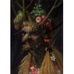 Grafika-Kids-00214 Pièces Magnétiques - Arcimboldo Giuseppe : Quatre Saisons en Une Tête, 1590