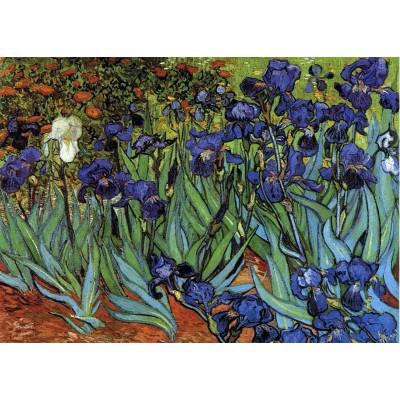 Grafika-Kids-00219 Pièces Magnétiques - Van Gogh Vincent : Les Iris, 1889
