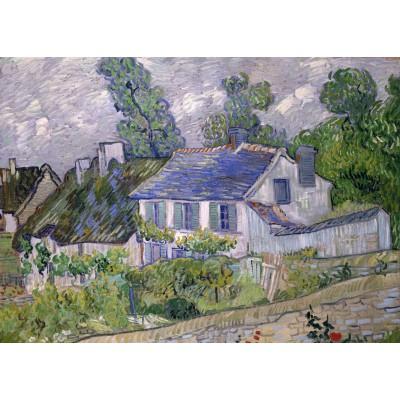 Grafika-Kids-00220 Pièces Magnétiques - Van Gogh Vincent : Maison à Auvers, 1890
