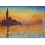 Grafika-Kids-00231 Pièces Magnétiques - Claude Monet : Saint-Georges-Majeur au Crépuscule, 1908