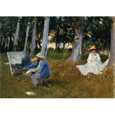 Grafika-Kids-00233 Pièces Magnétiques - Claude Monet by John Singer Sargent, 1885