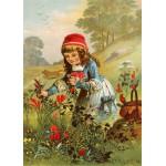 Grafika-Kids-00234 Pièces Magnétiques - Le Petit Chaperon Rouge, illustration par Carl Offterdinger
