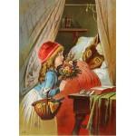 Grafika-Kids-00239 Pièces Magnétiques - Le Petit Chaperon Rouge, illustration par Carl Offterdinger