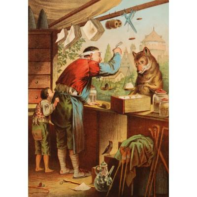 Grafika-Kids-00241 Pièces Magnétiques - Carl Offterdinger : Le Loup et les sept Chevreaux