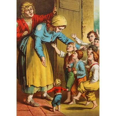 Grafika-Kids-00248 Pièces Magnétiques - Carl Offterdinger : Le Petit Poucet