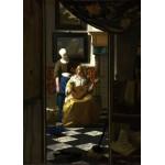 Grafika-Kids-00251 Pièces Magnétiques - Vermeer Johannes : La lettre d'amour, 1669-1670