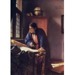 Grafika-Kids-00253 Pièces Magnétiques - Vermeer Johannes: Le Géographe, 1668-1669