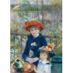 Grafika-Kids-00254 Pièces Magnétiques - Auguste Renoir : Deux Soeurs sur la Terrasse, 1881