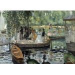 Grafika-Kids-00258 Pièces Magnétiques - Auguste Renoir : La Grenouillère, 1869