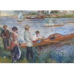 Grafika-Kids-00259 Pièces Magnétiques - Renoir Auguste : Canoteurs à Chatou, 1879