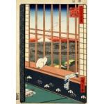 Grafika-Kids-00265 Pièces XXL - Utagawa Hiroshige : Rizières d'Asakusa et Festival Torinomachi, 1857