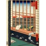 Grafika-Kids-00266 Utagawa Hiroshige : Rizières d'Asakusa et Festival Torinomachi, 1857