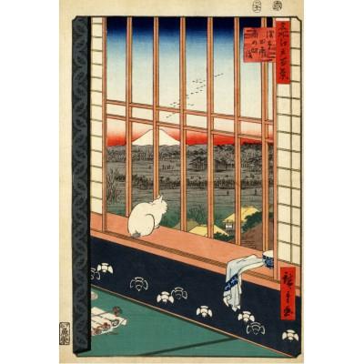 Grafika-Kids-00268 Utagawa Hiroshige : Rizières d'Asakusa et Festival Torinomachi, 1857