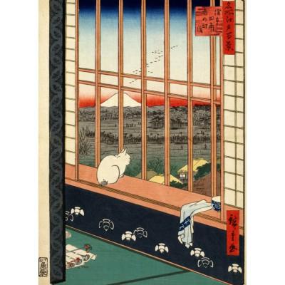 Grafika-Kids-00269 Utagawa Hiroshige : Rizières d'Asakusa et Festival Torinomachi, 1857