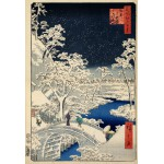 Grafika-Kids-00270 Pièces XXL - Utagawa Hiroshige : Drum bridge at Meguro and Sunset Hill, 1857