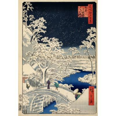 Grafika-Kids-00270 Pièces XXL - Utagawa Hiroshige : Drum bridge at Meguro and Sunset Hill, 1857