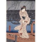 Grafika-Kids-00283 Utagawa Hiroshige : Evening on the Sumida River, 1847-1848