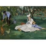 Grafika-Kids-00317 Edouard Manet : La Famille Monet dans leur Jardin à Argenteuil, 1874