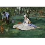 Grafika-Kids-00318 Edouard Manet : La Famille Monet dans leur Jardin à Argenteuil, 1874