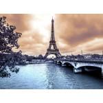 Grafika-Kids-00379 La Tour Eiffel par Temps de Pluie en Hiver