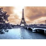 Grafika-Kids-00381 La Tour Eiffel par Temps de Pluie en Hiver