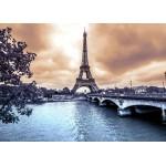 Grafika-Kids-00382 Pièces Magnétiques - La Tour Eiffel par Temps de Pluie en Hiver