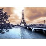 Grafika-Kids-00383 Pièces XXL - La Tour Eiffel par Temps de Pluie en Hiver