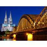 Grafika-Kids-00394 Cathédrale et Pont Hohenzollern de Cologne
