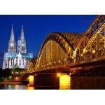 Grafika-Kids-00397 Pièces Magnétiques - Cathédrale et Pont Hohenzollern de Cologne