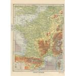 Grafika-Kids-00416 Carte de la France Physique - Larousse, 1925