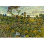 Grafika-Kids-00426 Pièces Magnétiques - Van Gogh Vincent : Coucher de Soleil à Montmajour, 1888