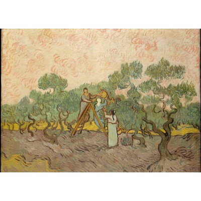 Grafika-Kids-00446 Pièces Magnétiques - Van Gogh Vincent : Femmes ramassant des Olives, 1889