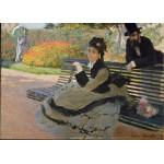 Grafika-Kids-00469 Pièces Magnétiques - Claude Monet: Camille Monet, 1873