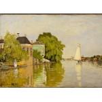 Grafika-Kids-00480 Claude Monet: Maisons sur le Achterzaan, 1871