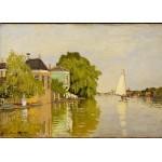 Grafika-Kids-00483 Pièces Magnétiques - Claude Monet: Maisons sur le Achterzaan, 1871