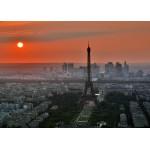 Grafika-Kids-00503 Pièces Magnétiques - Coucher de Soleil sur Paris
