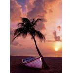 Grafika-Kids-00623 Pièces Magnétiques - Coucher de Soleil au Paradis