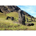 Grafika-Kids-00626 Île de Pâques, Moai at Quarry