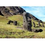 Grafika-Kids-00627 Île de Pâques, Moai at Quarry