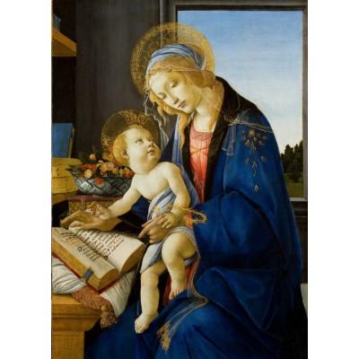 Grafika-Kids-00699 Pièces Magnétiques - Sandro Botticelli: La Madone du Livre, 1480