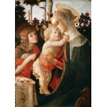 Grafika-Kids-00705 Pièces Magnétiques - Sandro Botticelli: La Vierge à l'Enfant, le Jeune Saint Jean-Baptiste, 1470-147