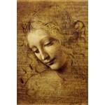 Grafika-Kids-00715 Pièces XXL - Léonard de Vinci : Visage de Giovane Fanciulla, 1508