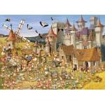 Grafika-Kids-00817 Pièces magnétiques - François Ruyer: Le Château des Lapins