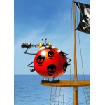 Grafika-Kids-00838 François Ruyer: Coccinelle Pirate