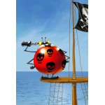 Grafika-Kids-00842 Pièces XXL - François Ruyer: Coccinelle Pirate
