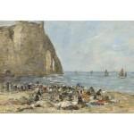 Grafika-Kids-00853 Eugène Boudin: Les Blanchisseuses de la Plage d'Etretat, 1894