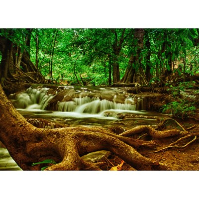 Grafika-Kids-00928 Pièces magnétiques - Cascade dans la Forêt
