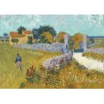 Grafika-Kids-00993 Pièces magnétiques - Vincent Van Gogh - Ferme de Provence, 1888