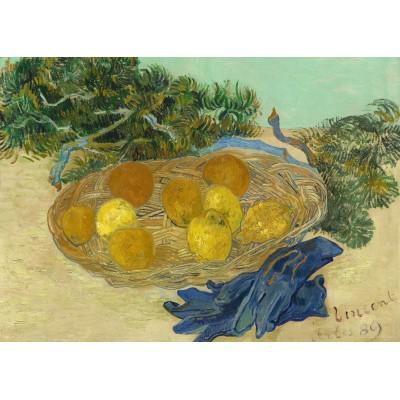Grafika-Kids-01001 Pièces magnétiques - Vincent Van Gogh - Still Life of Oranges and Lemons with Blue Gloves, 1889