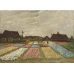 Grafika-Kids-01005 Pièces magnétiques - Vincent Van Gogh - Flower Beds in Holland, 1883